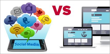 Social Media Versus Website